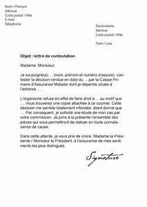 Rédiger Une Lettre Geste Commercial : lettre de contestation cpam contestation d 39 une d cision mod le de lettre ~ Medecine-chirurgie-esthetiques.com Avis de Voitures