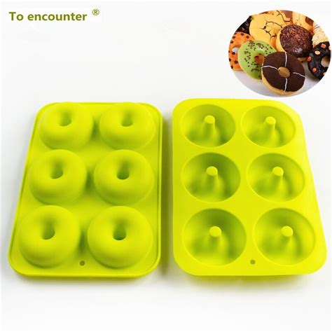 Silicone Donuts Mold 6 holes doughnuts mold silicone donuts molds shape