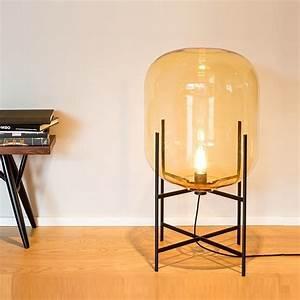 Lampe De Sol : lampe de sol oda medium verre fum ambre h85cm pulpo ~ Dode.kayakingforconservation.com Idées de Décoration