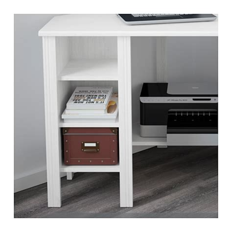 Ikea Desk Corner Shelf by Brusali Corner Desk White 120x73 Cm Ikea