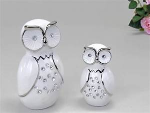 Deko Weiß Silber : deko eule aus keramik weiss silber 18 cm formano deko ~ Sanjose-hotels-ca.com Haus und Dekorationen