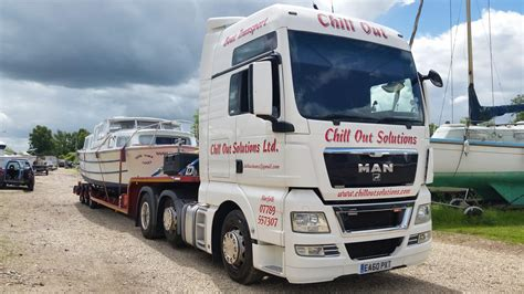 Boat Transport Norfolk by Banham 33 Leaves Wayford Marine Services For The Grand