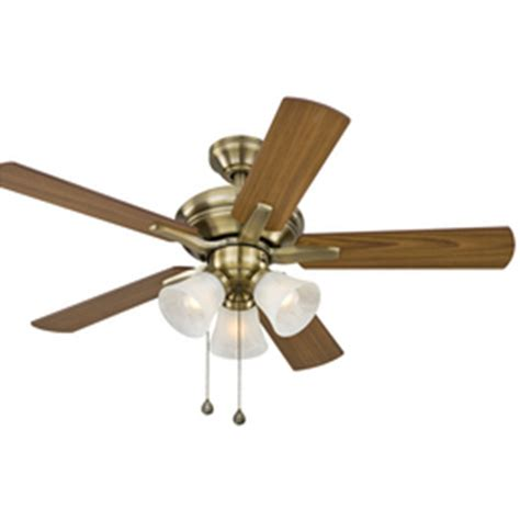 shop harbor 42 in antique brass ceiling fan with