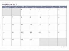 Calendario noviembre 2017 para imprimir iCalendarionet