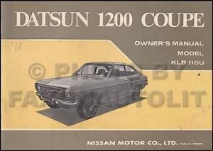 1971 Datsun 1200 Coupe Owners Manual Original Oem User