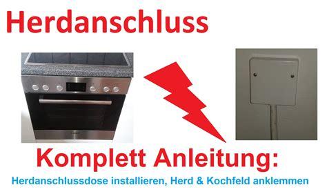 Herd An Steckdose by Herd Elektroherd Kochfeld Und Backofen Anschlie 223 En