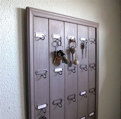 key rack for wall remodelaholic diy wall mounted wooden hotel key rack