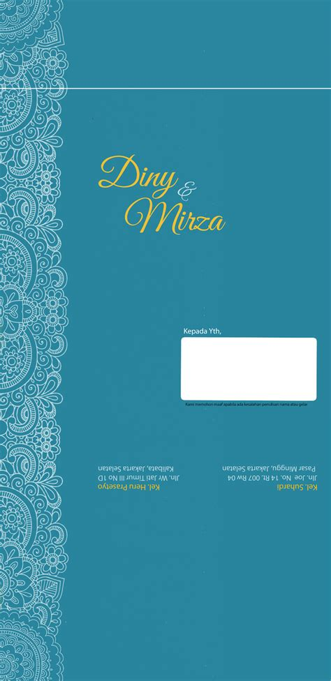 undangan pernikahan bagian  dunia diny