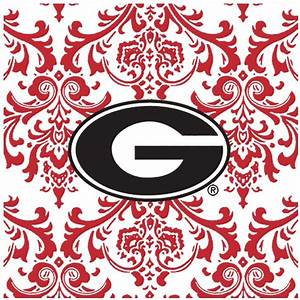 University of Georgia Bulldogs Pattern Ceramic Trivets