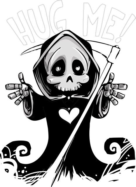 Death Cute Mascot · Free vector graphic on Pixabay