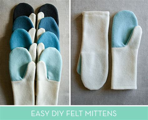 simple felted wool mittens curbly
