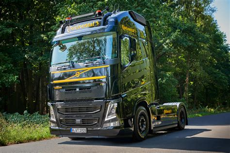 continental presents volvo fh  demo truck truck bus news