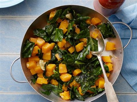 braised collard greens  butternut squash recipe food