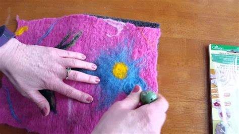combining wet felting  needle felting youtube