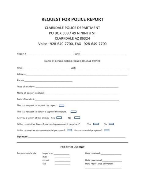police report form   templates   word excel