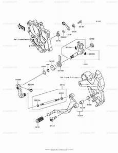 Kawasaki Motorcycle 2017 Oem Parts Diagram For Gear Change