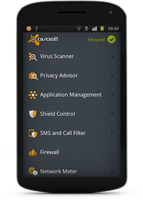 free mobile security protection for your android avast avast security for android based smart phones downloads