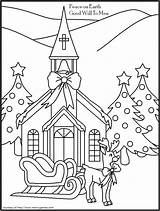 Coloring Christmas Pages Printable Cards Christian Religious Church Adults Sheets Adult Printables Colouring Children Template Childrens Simple Easter Nativity Getdrawings sketch template