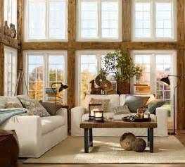 oak livingroom furniture pottery barn