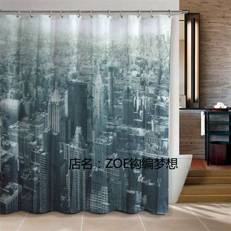 Fabrics For Curtains Nyc by 4712 New York City Bathroom Products Fabric Shower Curtain