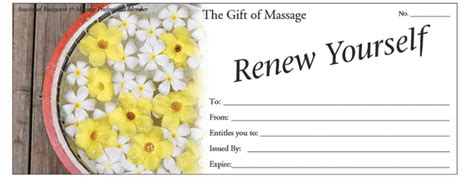 gift  selling massage gift certificates