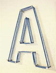 nail and string letters fun family crafts With nail on letters