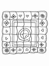 Quilt Coloring Pages sketch template
