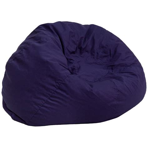 oversized solid navy blue bean bag chair dg bean large