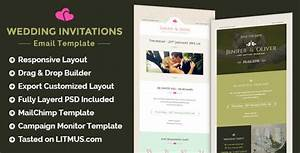 wedding invitation newsletter builder access by eeemon With wedding invitation template themeforest