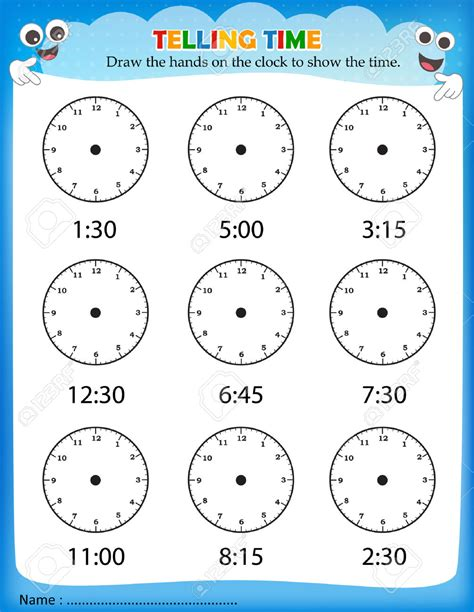 telling time worksheets kindergarten resultinfos