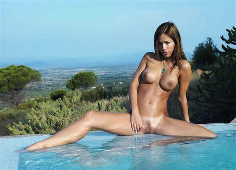 Wallpaper Model Lucy B Metart Beauty Pose Brunette Beauty Nice Natural Boobs Hazel Blue