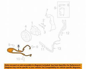 Ford Oem Power Steering Pressure Hose 8l3z