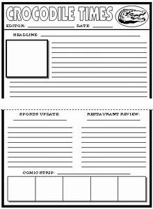 Best photos of news article outline worksheet blank for Free printable newspaper template for students