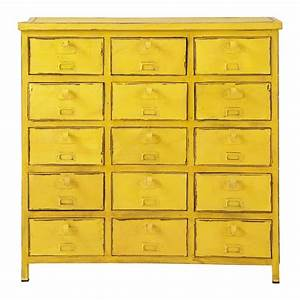 Commode Maison Du Monde : commode cabinet indus jaune edison maisons du monde ~ Teatrodelosmanantiales.com Idées de Décoration