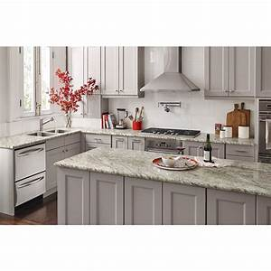 Shop wilsonart granito amarelo mirage laminate kitchen for Kitchen cabinets lowes with format papiers