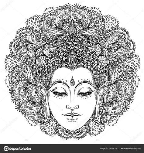 Spirituele Kleurplaten by Boeddha Gezicht Sierlijke Mandala Ronde Patroon