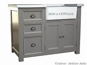 meuble evier de cuisine dessus zinc With meuble cuisine style campagne 5 meuble evier de cuisine 2 bacs en bois
