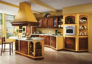 italian kitchen orange and yellow colors in the interior With kitchen colors with white cabinets with italian wall art kitchen