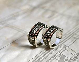 steampunk wedding rings for men and women With mens steampunk wedding ring