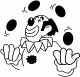 Coloring Circus Pages Juggling Clown Kidprintables Return Main Coloring2print sketch template