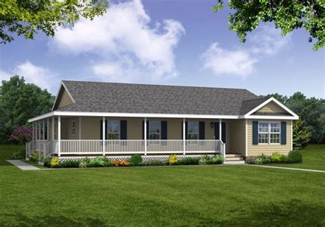 ranch style homes  notable feature   beautiful covered wrap  porch