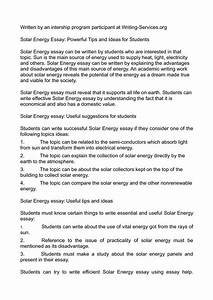 solar energy research paper outline