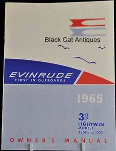 1965 Boat Owners Manual 3 Hp Evinrude Lightwin Model  3502