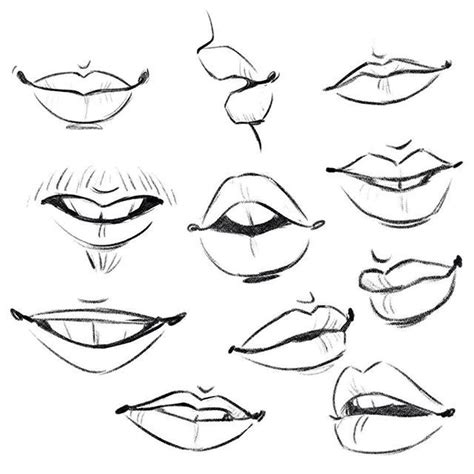 lips body parts challenge day  art drawings