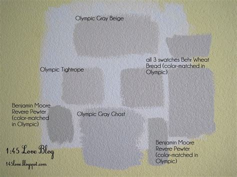 paint color gray ghost greige paint wall swatches olympic gray beige benjamin revere pewter olympic gray ghost