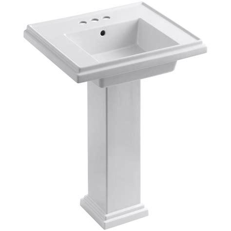 kohler tresham ceramic pedestal combo bathroom sink with 4