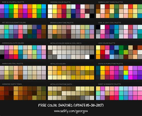 free procreate color swatches 37 palettes for painti