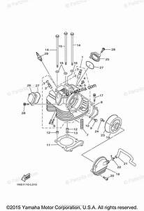 Yamaha Atv 2014 Oem Parts Diagram For Cylinder Head