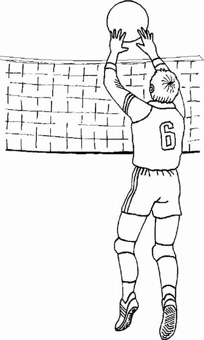 Volleyball Coloring Pages Colornimbus