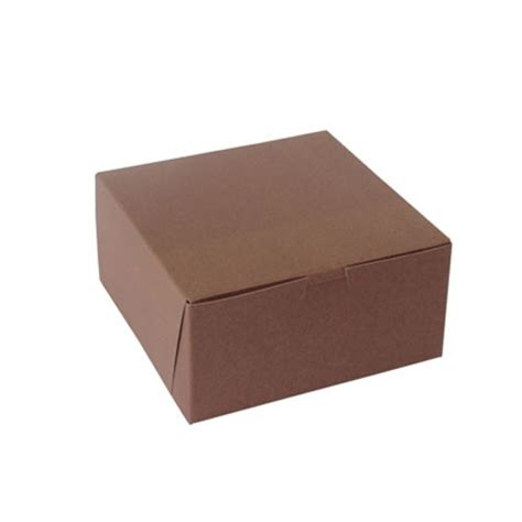 xx recycled chocolate brown bakery cake boxes